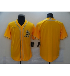 Men's Nike Oakland Athletics Blank Yellow Jersey