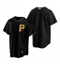Men's Nike Pittsburgh Pirates Black Alternate Stitched Baseball Jersey