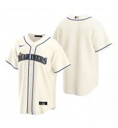 Men's Nike Seattle Mariners Blank Cream Alternate Stitched Baseball Jersey