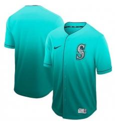 Men's Nike Seattle Mariners Blank Green Fade Jersey
