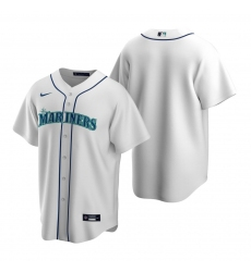 Men's Nike Seattle Mariners Blank White Home Stitched Baseball Jersey