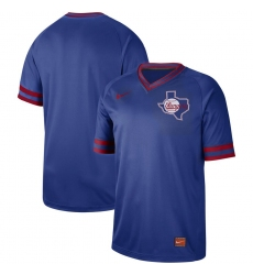 Men's Nike Texas Rangers Blank Cooperstown Collection Legend V-Neck Jersey Royal