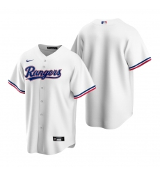 Men's Nike Texas Rangers Blank White Home Stitched Baseball Jersey
