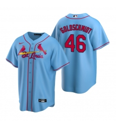 Men's Nike St. Louis Cardinals #46 Paul Goldschmidt Light Blue Alternate Stitched Baseball Jersey