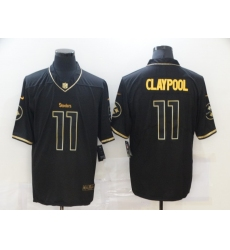Men's Pittsburgh Steelers #11 Chase Claypool Olive Gold Nike 2020 Salute To Service Limited Jersey
