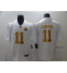 Men's Pittsburgh Steelers #11 Chase Claypool White Nike Leopard Print Limited Jersey
