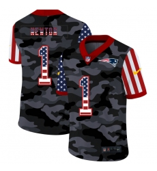 Men's New England Patriots #1 Cam Newton Camo Flag Nike Limited Jersey
