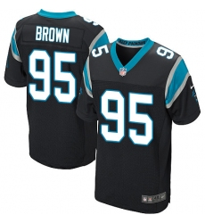 Men's Carolina Panthers #95 Derrick Brown Black Team Color Stitched NFL Vapor Untouchable Elite Jersey