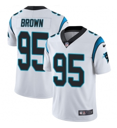 Men's Carolina Panthers #95 Derrick Brown White Stitched NFL Vapor Untouchable Limited Jersey