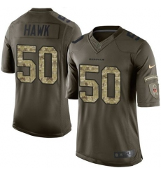 Nike Bengals #50 A.J. Hawk Green Men's Stitched NFL Limited Salute to Service Jersey