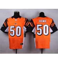 Nike Bengals #50 A.J. Hawk Orange Alternate Men's Stitched NFL Elite Jersey
