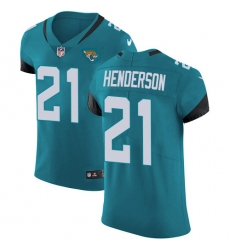 Men's Jacksonville Jaguars #21 C.J. Henderson Teal Green Alternate Stitched New Elite Jersey