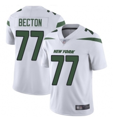 Men's New York Jets #77 Mekhi Becton White Stitched Vapor Untouchable Limited Jersey