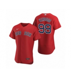 Men's Boston Red Sox #99 Alex Verdugo Nike Red Authentic 2020 Alternate Jersey