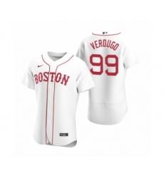 Men's Boston Red Sox #99 Alex Verdugo Nike White Authentic 2020 Alternate Jersey