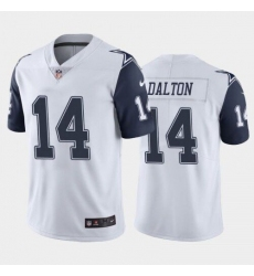 Men's Dallas Cowboys #14 Andy Dalton White Stitched Limited Jersey