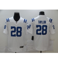 Men's Indianapolis Colts #28 Jonathan Taylor White Nike Royal Limited Jersey