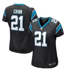 Women's Carolina Panthers #21 Jeremy Chinn Nike Black Game Jersey