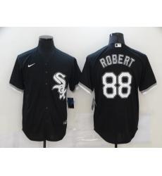 Men's Chicago White Sox #88 Luis Robert Nike Black 2020 Jerseys