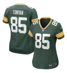 Women's Green Bay Packers #85 Robert Tonyan Nike Green Game Jersey