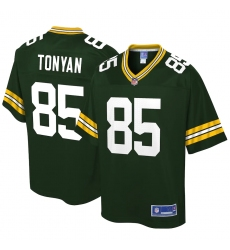 Youth Green Bay Packers #85 Robert Tonyan NFL Pro Line Green Player Jersey
