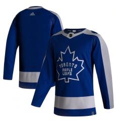 Men's Toronto Maple Leafs adidas Blank Blue 2020-21 Reverse Retro Authentic Jersey