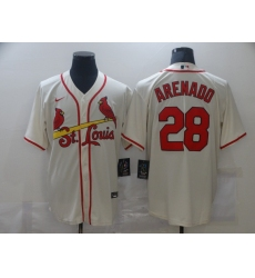 Men's St. Louis Cardinals #28 Nolan Arenado Nike Cream Alternate Official Replica Player Jersey