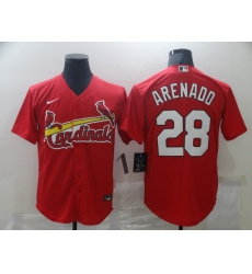 Men's St. Louis Cardinals #28 Nolan Arenado Nike Red Alternate Official Replica Player Jersey