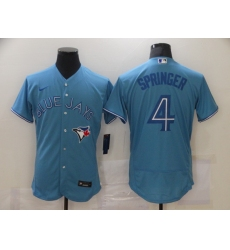 Men's Toronto Blue Jays #4 George Springer Light Blue Nike Royal Alternate Replica Player Jersey