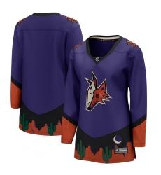 Women's Arizona Coyotes Fanatics Branded Blank Purple 2020-21 Special Edition Breakaway Jersey