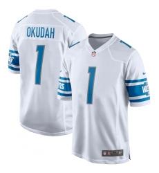 Men's Detroit Lions Nike #1 Jeff Okudah White 2020 NFL Draft First Round Pick Game Jersey.webp
