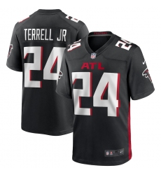 Men's Atlanta Falcons #24 A.J. Terrell Nike Black 2020 NFL Draft First Round Pick Game Jersey