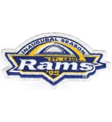 Stitched NFL 1995 St. Louis Rams Inaugural NFL Season Jersey Patch