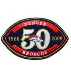 Stitched Denver Broncos 50th Anniversary Jersey Patch
