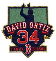 David Ortiz Boston Red Sox #34 MLB Men's Retirement Patch