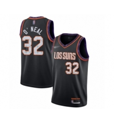 Men's Phoenix Suns #32 Shaquille O'Neal Swingman Black Basketball Jersey - 2019 20 City Edition