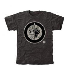 NHL Men's Winnipeg Jets Black Rink Warrior Tri-Blend T-Shirt