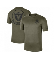 Football Men's Oakland Raiders Olive 2019 Salute to Service Sideline Seal Legend Performance T-Shirt