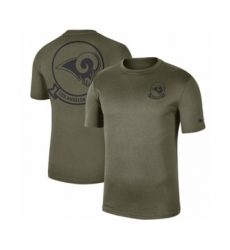 Football Men's Los Angeles Rams Olive 2019 Salute to Service Sideline Seal Legend Performance T-Shirt