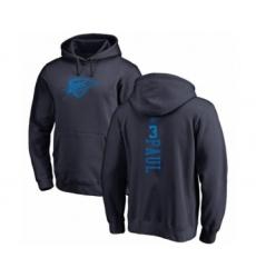 Basketball Oklahoma City Thunder #3 Chris Paul Navy Blue One Color Backer Pullover Hoodie