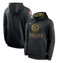 Men's NFL Pittsburgh Steelers 2020 Salute To Service Black Pullover Hoodie
