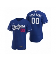Men's Los Angeles Dodgers Custom Nike Royal Authentic 2020 Alternate Jersey