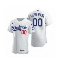 Men's Los Angeles Dodgers Custom Nike White 2020 Authentic Jersey