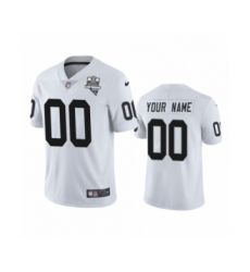 Oakland Raiders Custom White 2020 Inaugural Season Vapor Limited Jersey
