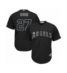 Men's Los Angeles Angels of Anaheim #27 Mike Trout  Kiiiiid Authentic Black 2019 Players Weekend Baseball Jersey