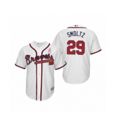 Men's John Smoltz Atlanta Braves #29 White 2019 Mothers Day Cool Base Jersey