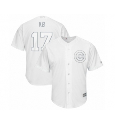 Men's Chicago Cubs #17 Kris Bryant  KB  Authentic White 2019 Players Weekend Baseball Jersey