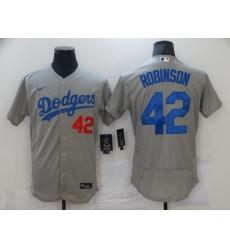 Men's Los Angeles Dodgers #42 Jackie Robinson Gray Nike MLB Jersey