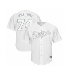 Men's Los Angeles Dodgers #74 Kenley Jansen  Kenleyfornia  Authentic White 2019 Players Weekend Baseball Jersey