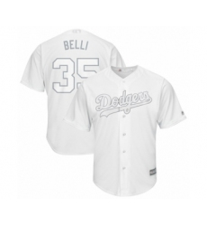 Men's Los Angeles Dodgers #35 Cody Bellinger  Belli  Authentic White 2019 Players Weekend Baseball Jersey